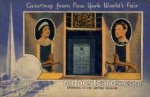 exp150077 - New York Worlds Fair 1939 exhibition postcard Post Card