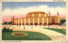 exp150106 - New York Worlds Fair 1939 exhibition postcard Post Card