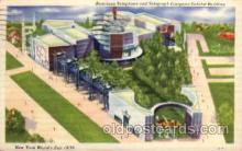 exp150137 - New York Worlds Fair 1939 exhibition postcard Post Card