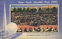 exp150164 - Musical Program 1939 New York USA, Worlds Fair Exposition, Postcard Post Card