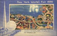 exp150165 - Amusement Area 1939 New York USA, Worlds Fair Exposition, Postcard Post Card
