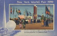 exp150167 - Hall of Communications 1939 New York USA, Worlds Fair Exposition, Postcard Post Card