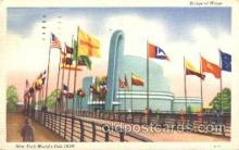 exp150173 - Bridge of Wings 1939 New York USA, Worlds Fair Exposition, Postcard Post Card