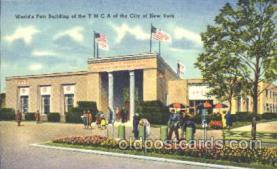 exp150175 - YMCA 1939 New York USA, Worlds Fair Exposition, Postcard Post Card