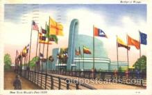 exp150180 - Bridge of Wings 1939 New York USA, Worlds Fair Exposition, Postcard Post Card