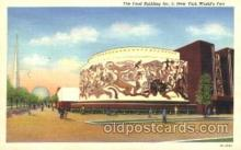 exp150190 - Food Building 1939 New York USA, Worlds Fair Exposition, Postcard Post Card