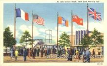exp150192 - Information Booth 1939 New York USA, Worlds Fair Exposition, Postcard Post Card