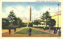 exp150193 - Restful Garden 1939 New York USA, Worlds Fair Exposition, Postcard Post Card