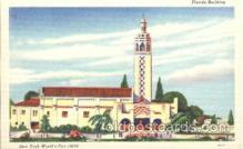 exp150204 - Florida Building 1939 New York USA, Worlds Fair Exposition, Postcard Post Card