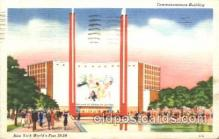 exp150207 - Communication Building 1939 New York USA, Worlds Fair Exposition, Postcard Post Card