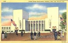 exp150210 - United States Government Building 1939 New York USA, Worlds Fair Exposition, Postcard Post Card