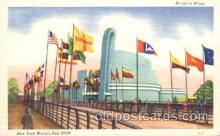 exp150213 - Bridge of Wings 1939 New York USA, Worlds Fair Exposition, Postcard Post Card