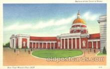 exp150216 - Court of States 1939 New York USA, Worlds Fair Exposition, Postcard Post Card