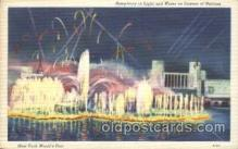 exp150218 - Lagoon of Nations 1939 New York USA, Worlds Fair Exposition, Postcard Post Card