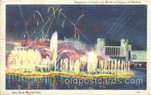 exp150219 - Lagoon of Nations 1939 New York USA, Worlds Fair Exposition, Postcard Post Card