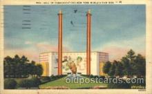exp150235 - Hall of Communications 1939 New York USA, Worlds Fair Exposition, Postcard Post Card