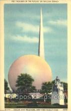 exp150249 - Perisphere and Helicline at Theme Center 1939 New York USA, Worlds Fair Exposition, Postcard Post Card