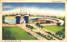 exp150252 - Maritime Building 1939 New York USA, Worlds Fair Exposition, Postcard Post Card