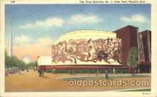 exp150287 - Food Building 1939 New York USA, Worlds Fair Exposition, Postcard Post Card