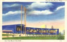 exp150289 - Food Building 1939 New York USA, Worlds Fair Exposition, Postcard Post Card