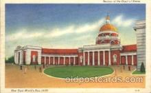 exp150290 - Court of States 1939 New York USA, Worlds Fair Exposition, Postcard Post Card