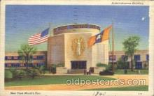 exp150291 - Administration Building 1939 New York USA, Worlds Fair Exposition, Postcard Post Card