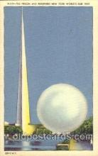exp150322 - Perisphere and Helicline at Theme Center 1939 New York USA, Worlds Fair Exposition, Postcard Post Card