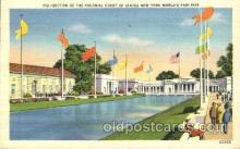 exp150334 - Colonial Court New York 1939 Worlds Fair, Exposition, Postcard Post Card