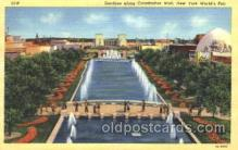 exp150336 - Constitution Mall New York 1939 Worlds Fair, Exposition, Postcard Post Card