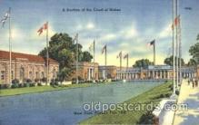 exp150357 - Court of States New York 1939 Worlds Fair, Exposition, Postcard Post Card
