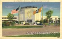exp150364 - Administration Building New York 1939 Worlds Fair, Exposition, Postcard Post Card