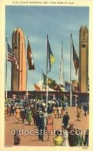 exp150366 - Corona Entrance New York 1939 Worlds Fair, Exposition, Postcard Post Card