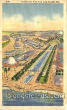 exp150367 - Constitution Mall New York 1939 Worlds Fair, Exposition, Postcard Post Card