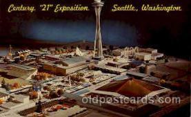 exp160023 - Seatle Washington Worlds Fair 1962, Exposition, Postcard Post Card