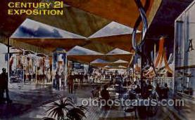 exp160047 - Seatle Washington Worlds Fair 1962, Exposition, Postcard Post Card