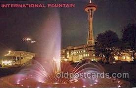 exp160070 - Internation Fountain Seattle Washington USA Exposition, Worlds Fair Postcard Post Card
