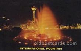 exp160071 - Internation Fountain Seattle Washington USA Exposition, Worlds Fair Postcard Post Card