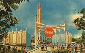 exp170026 - Coca Cola Exhibit, New York Worlds Fair, New York City, NYC Exposition, Postcard Post Card