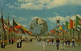 exp170037 - New York Worlds Fair, New York City, NYC Exposition, Postcard Post Card