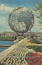 exp170071 - Unisphere New York, USA 1964 - 1965, Worlds Fair, Exposition, Postcard Post Card