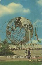 exp170072 - Unisphere New York, USA 1964 - 1965, Worlds Fair, Exposition, Postcard Post Card
