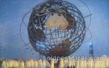 exp170079 - Theme symbol New York, USA 1964 - 1965, Worlds Fair, Exposition, Postcard Post Card
