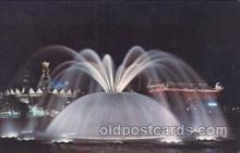 exp170083 - Lunar fountain New York, USA 1964 - 1965, Worlds Fair, Exposition, Postcard Post Card