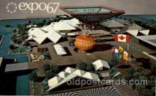 exp180040 - Montreal, Canada Exposition, 1967 expo67, Postcard Post Card
