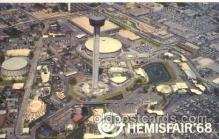 exp190003 - View of Fair Hemisfair Exposition 1968, Texas, USA Worlds Fair, Postcard Post Card