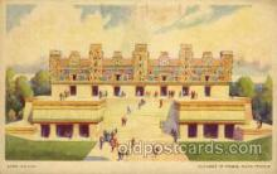 exp200055 - Nunnery of Uxmal, Maya Temple A Century Of Progress, Chicago 1934 International Exposition