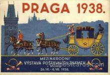 exp200076 - Praga 1938Larger Postcard Approx 4 x 5 1/2