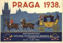 exp200077 - Praga 1938Larger Postcard Approx 4 x 5 1/2