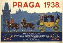 exp200078 - Praga 1938Larger Postcard Approx 4 x 5 1/2