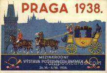 exp200079 - Praga 1938Larger Postcard Approx 4 x 5 1/2